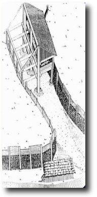 rekonstrukce brány keltského oppida